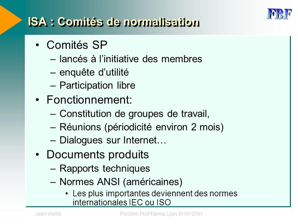 ISA : Comités de normalisation