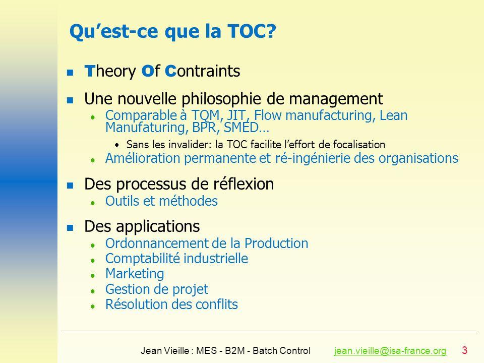 Qu'est-ce que la TOC Theory Of Contraints