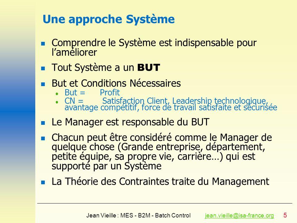 Une approche Système Comprendre le Système est indispensable pour l'améliorer. Tout Système a un BUT.