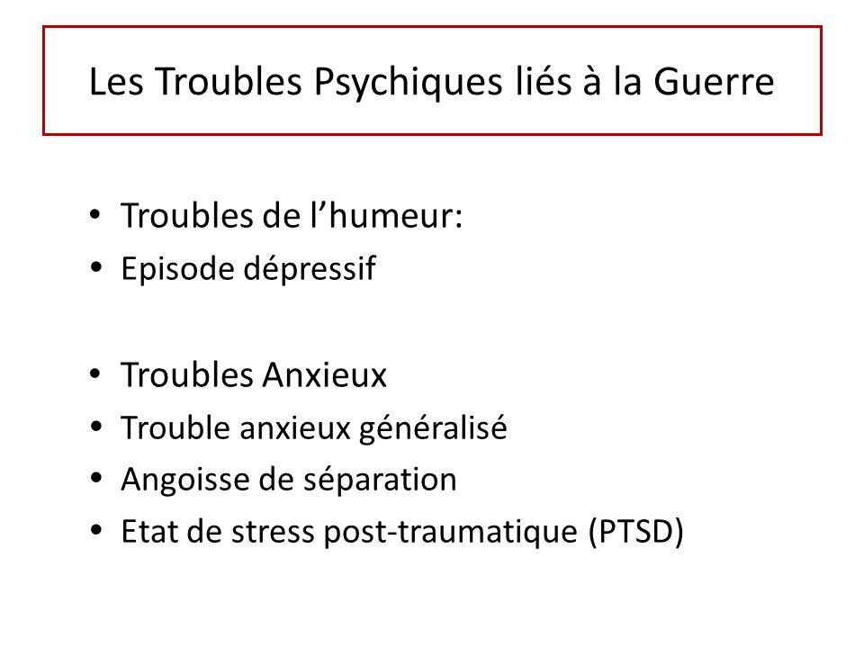 Les Troubles Psychiques liés à la Guerre