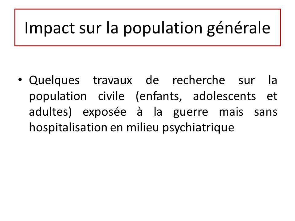 Impact sur la population générale