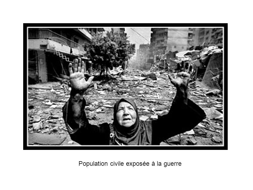 Population civile exposée à la guerre