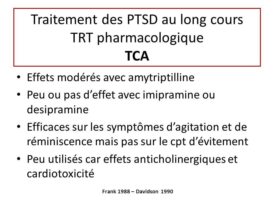 Traitement des PTSD au long cours TRT pharmacologique TCA