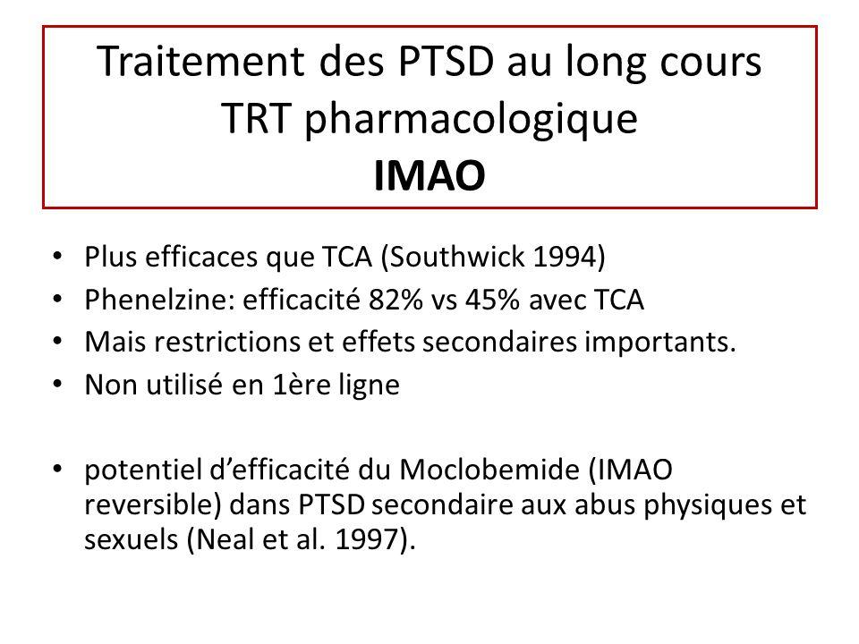 Traitement des PTSD au long cours TRT pharmacologique IMAO