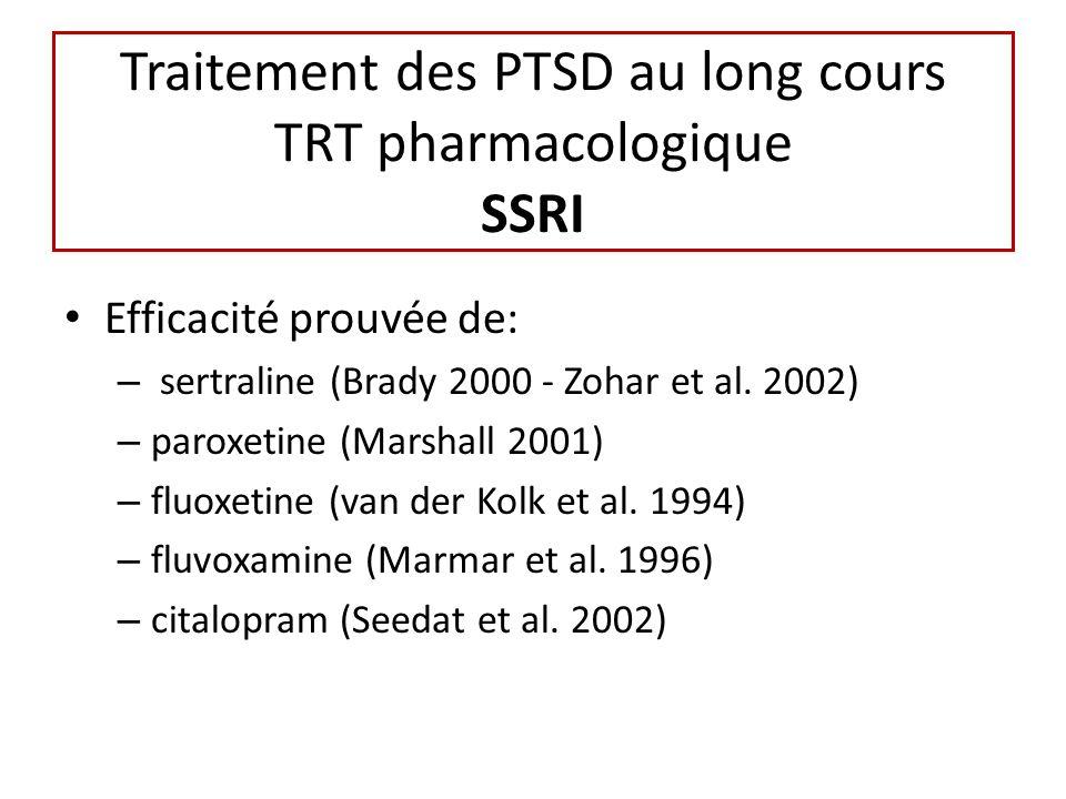 Traitement des PTSD au long cours TRT pharmacologique SSRI