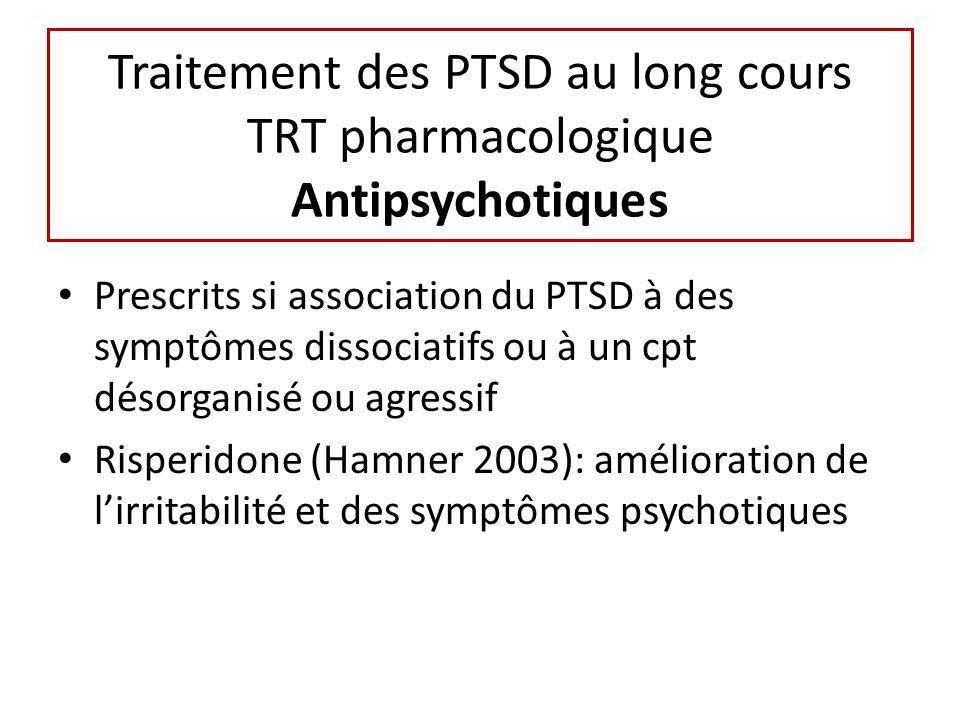 Traitement des PTSD au long cours TRT pharmacologique Antipsychotiques