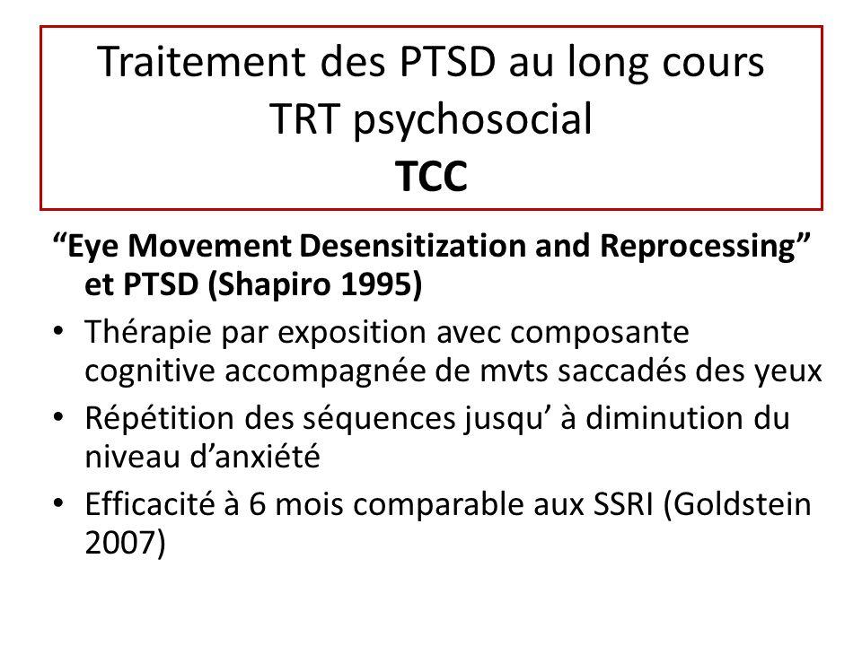 Traitement des PTSD au long cours TRT psychosocial TCC