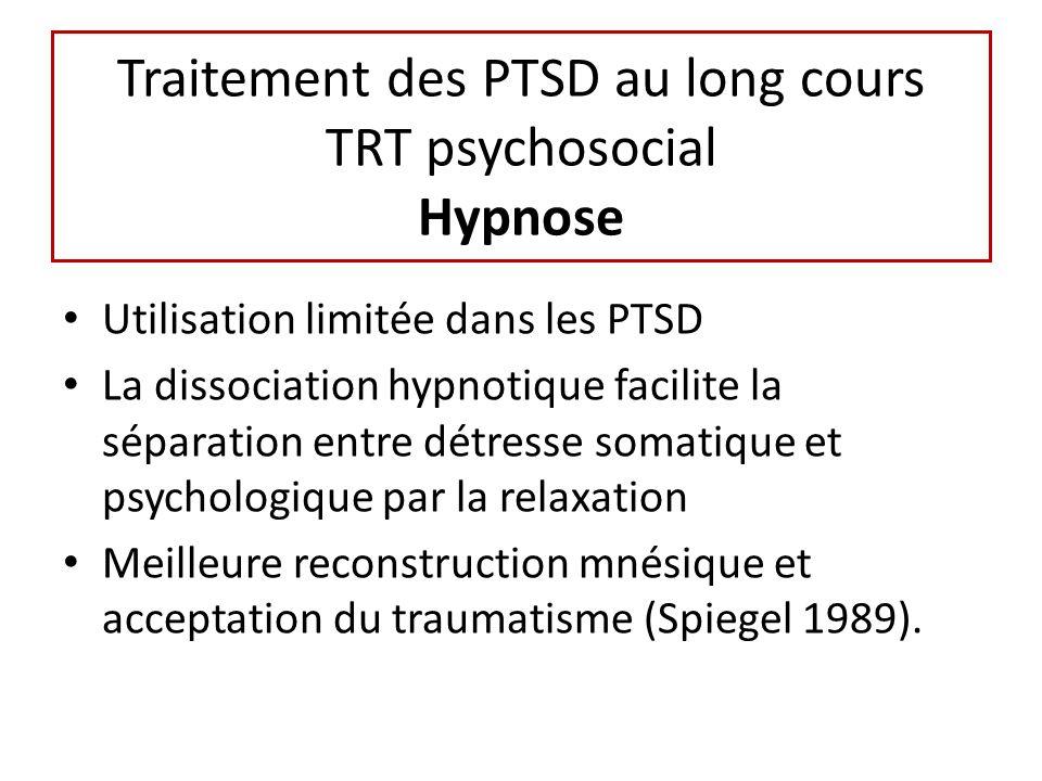 Traitement des PTSD au long cours TRT psychosocial Hypnose
