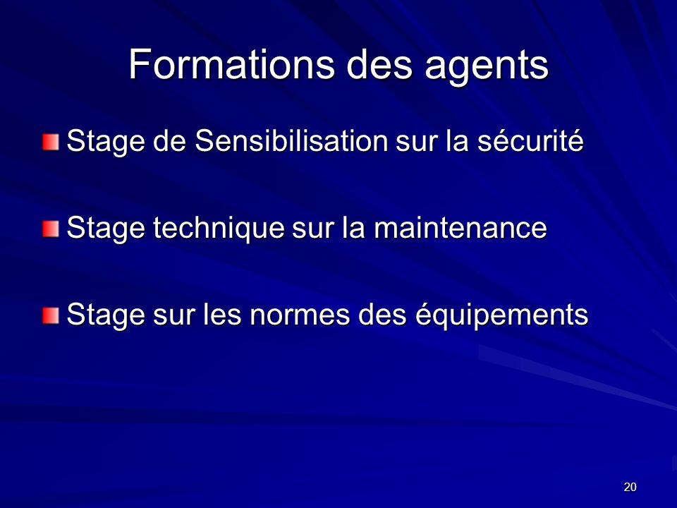 Formations des agents Stage de Sensibilisation sur la sécurité