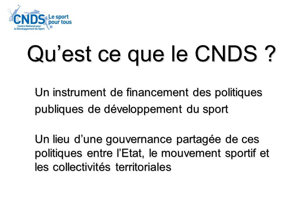 Qu'est ce que le CNDS Un instrument de financement des politiques