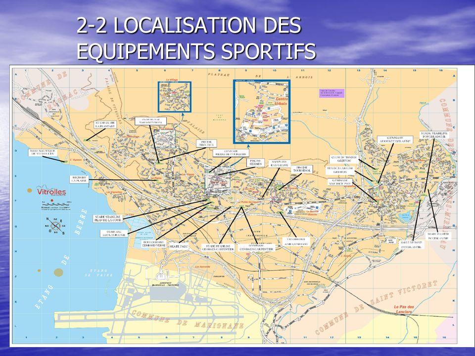 2-2 LOCALISATION DES EQUIPEMENTS SPORTIFS