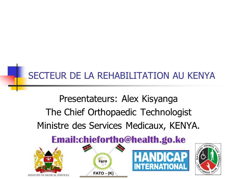SECTEUR DE LA REHABILITATION AU KENYA
