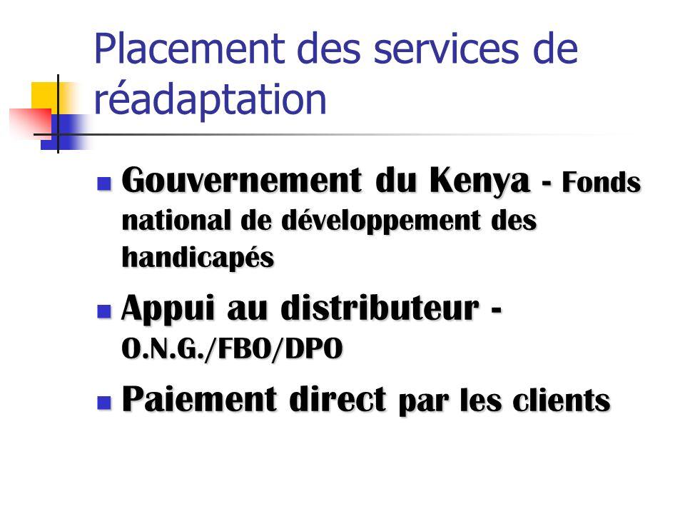 Placement des services de réadaptation