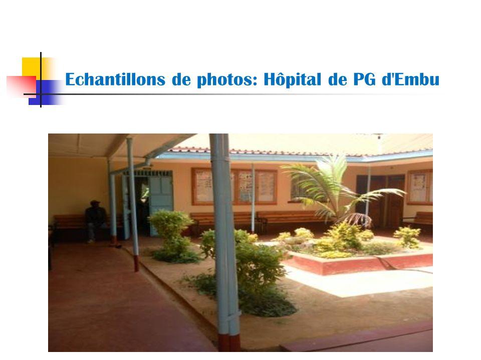 Echantillons de photos: Hôpital de PG d Embu