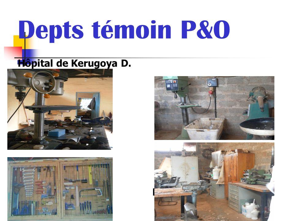 Depts témoin P&O Hôpital de Kerugoya D. Hôpital de Nyeri P.G