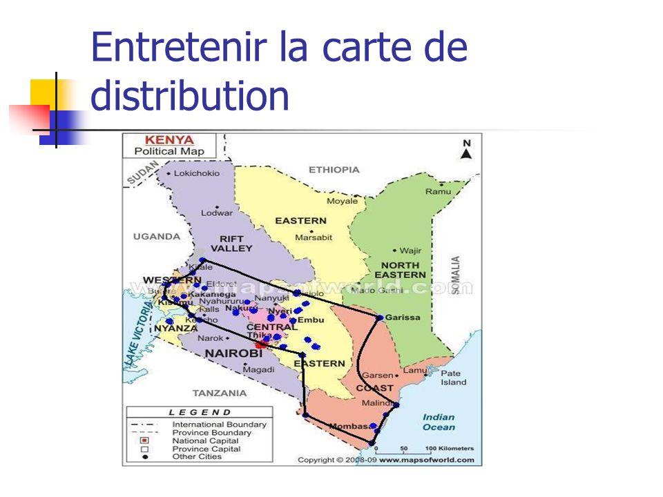 Entretenir la carte de distribution