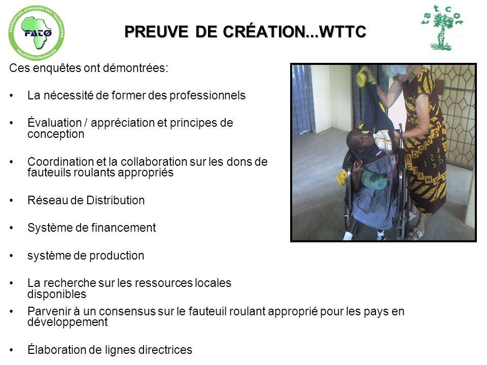 PREUVE DE CRÉATION...WTTC
