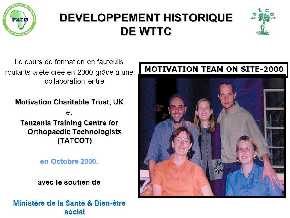 DEVELOPPEMENT HISTORIQUE DE WTTC