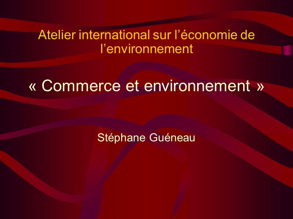 « Commerce et environnement »