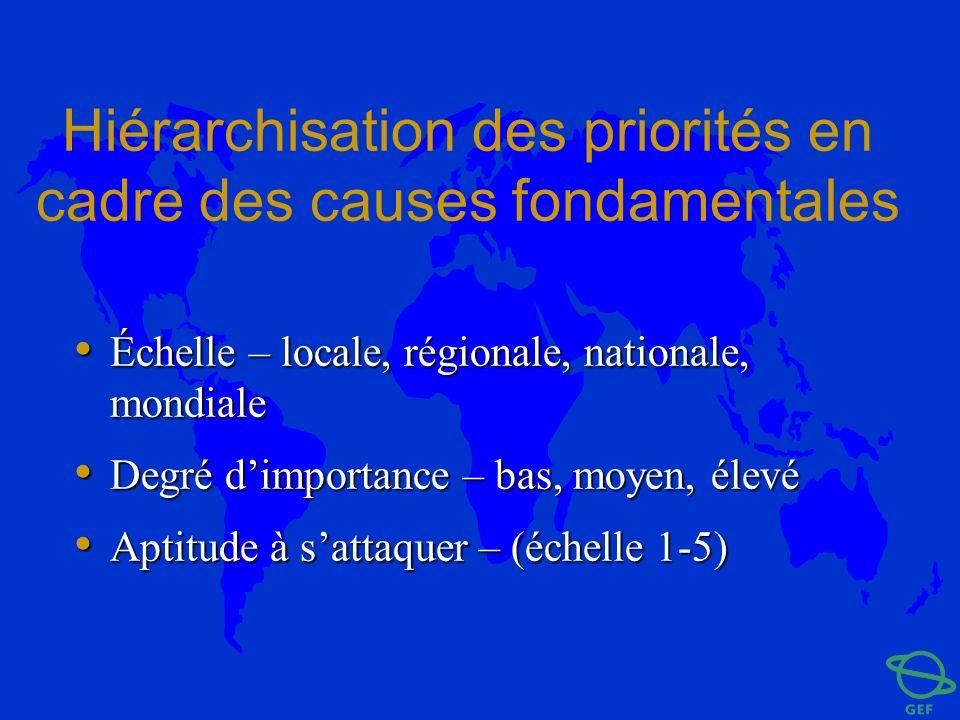 Hiérarchisation des priorités en cadre des causes fondamentales