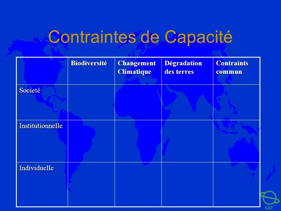 Contraintes de Capacité