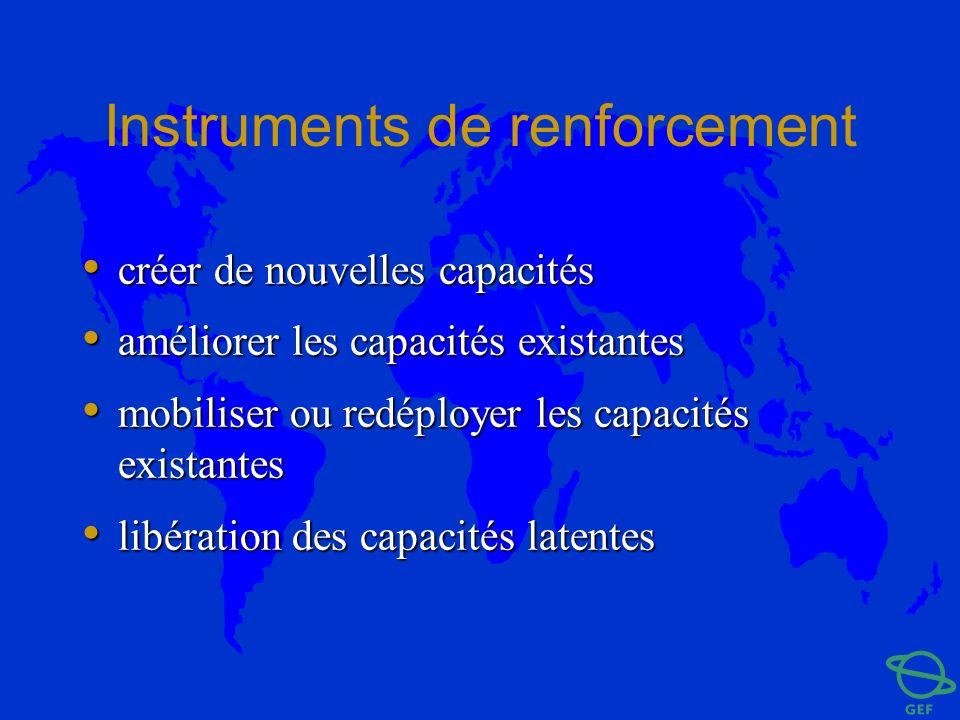 Instruments de renforcement