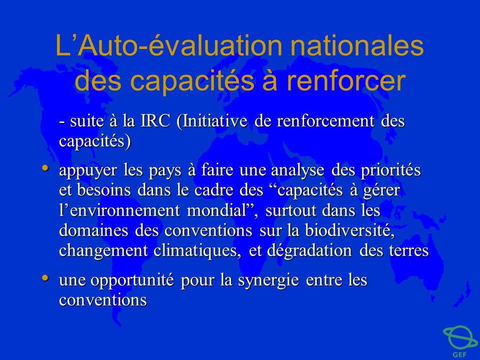 L'Auto-évaluation nationales des capacités à renforcer