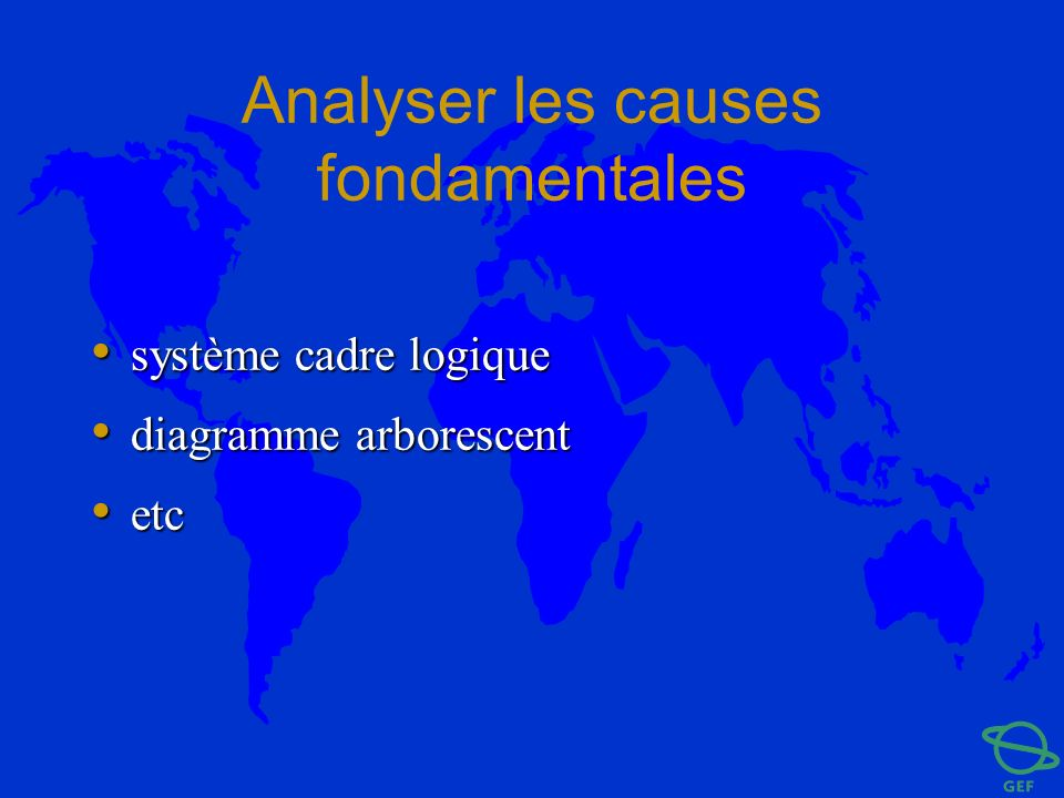 Analyser les causes fondamentales