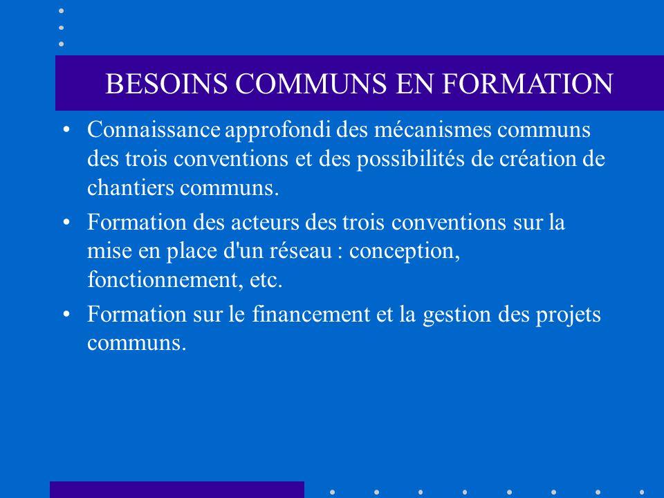 BESOINS COMMUNS EN FORMATION