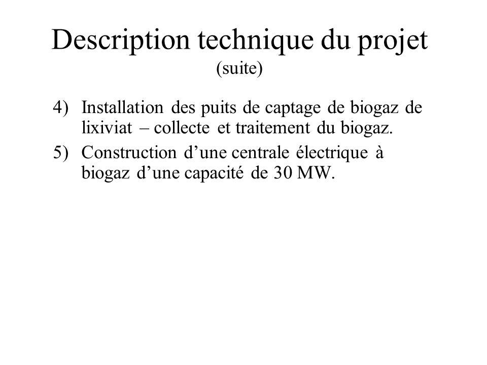Description technique du projet (suite)