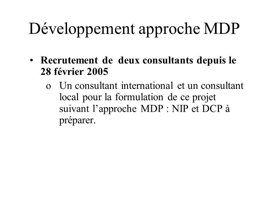 Développement approche MDP