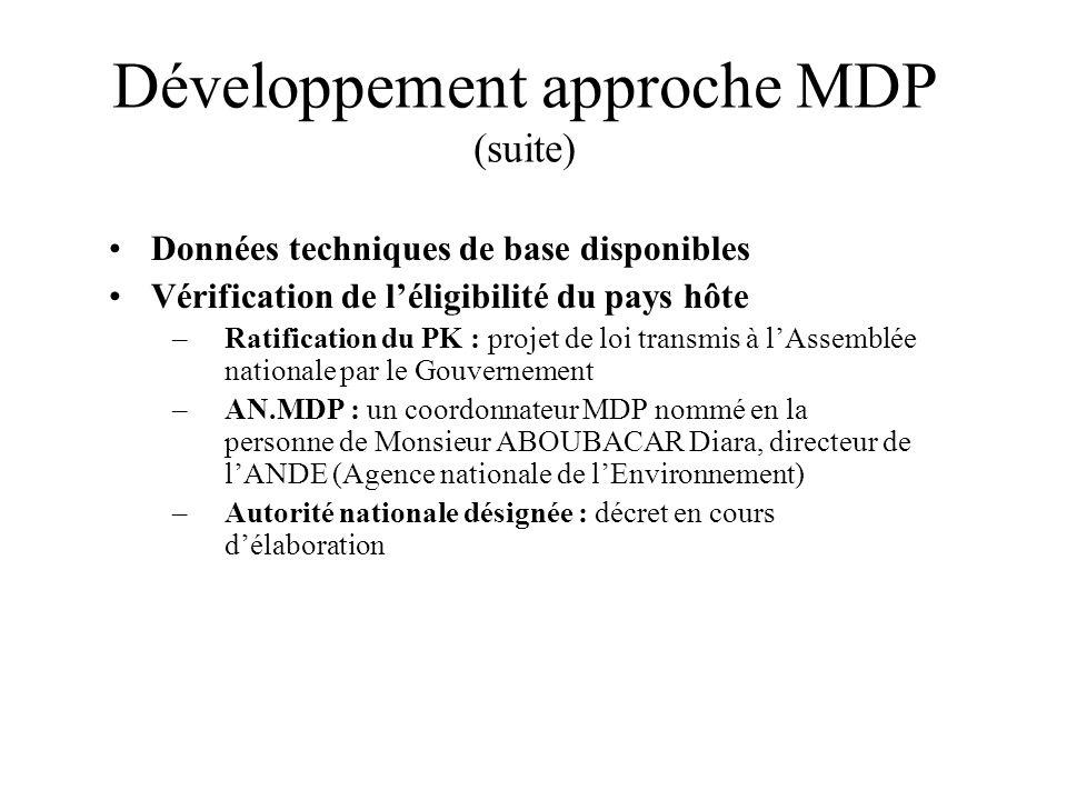 Développement approche MDP (suite)