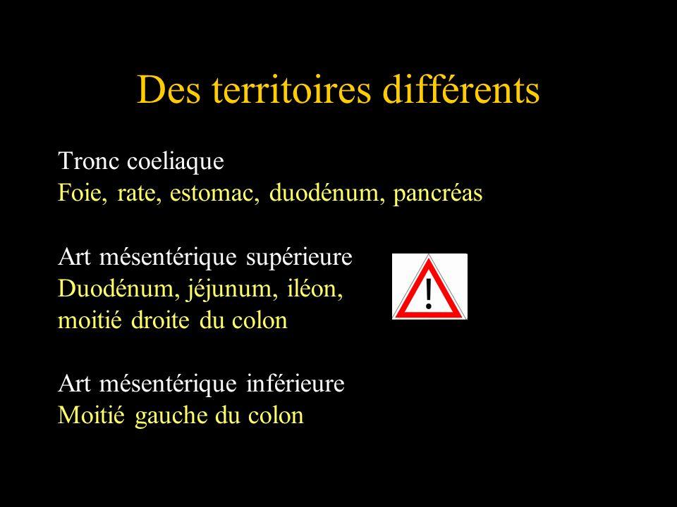 Des territoires différents