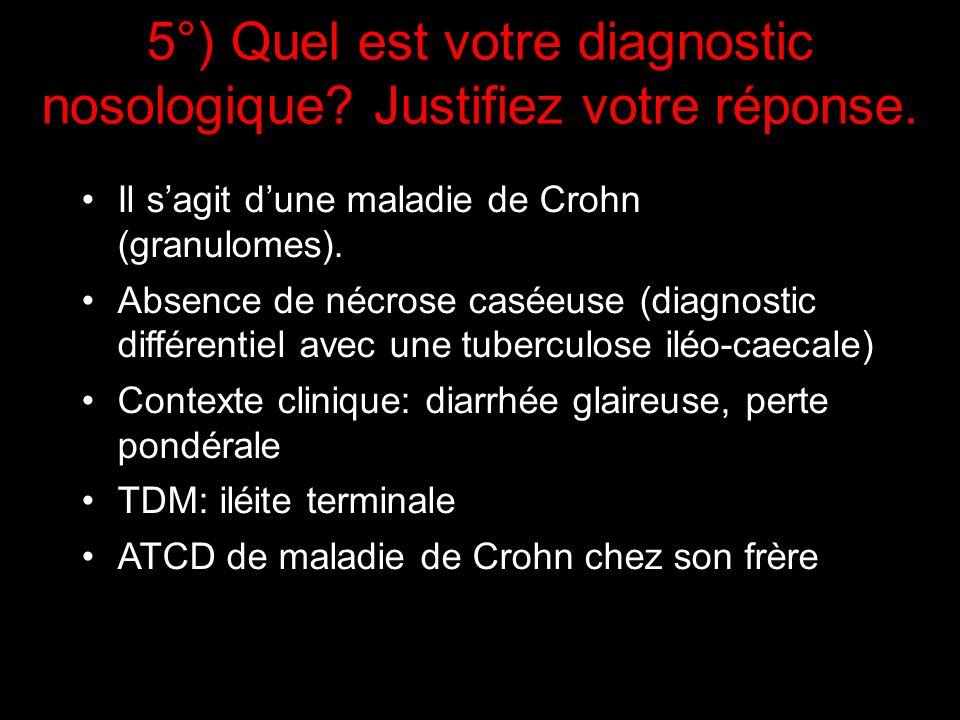 5°) Quel est votre diagnostic nosologique Justifiez votre réponse.