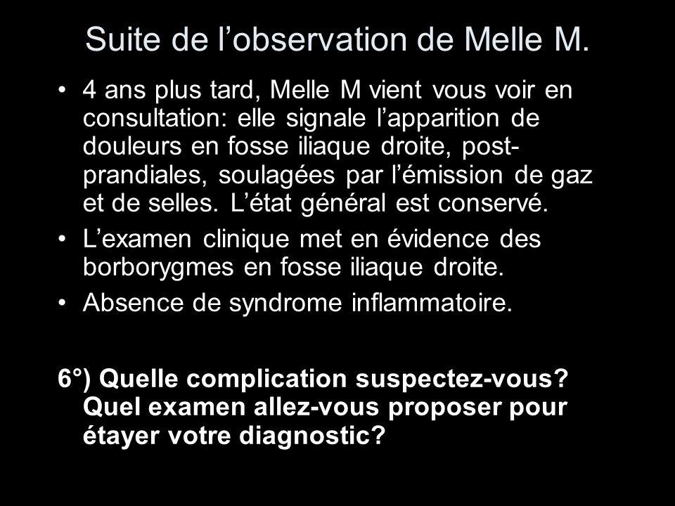Suite de l'observation de Melle M.