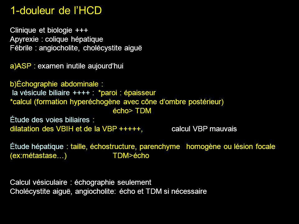 1-douleur de l'HCD Clinique et biologie +++