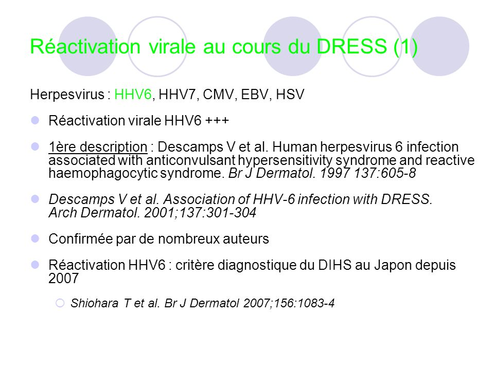 Réactivation virale au cours du DRESS (1)