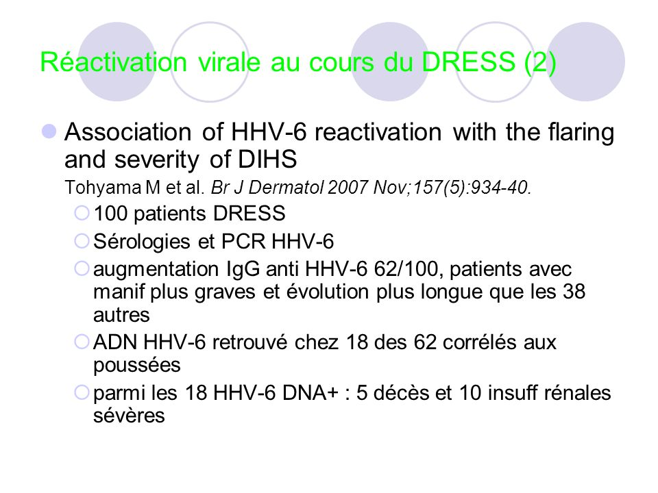 Réactivation virale au cours du DRESS (2)