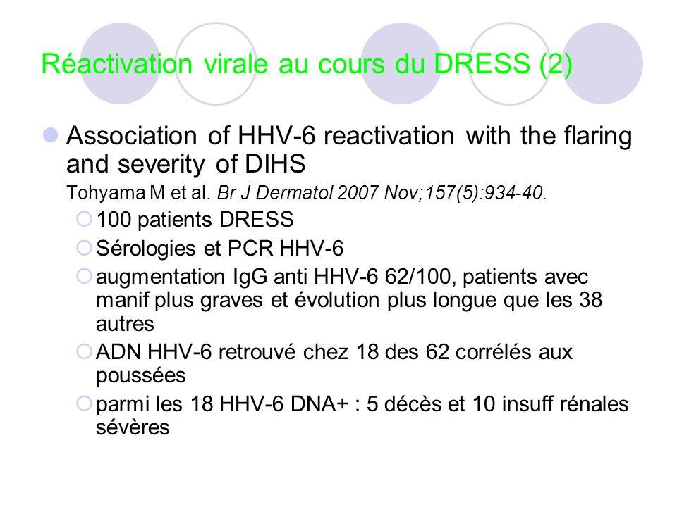 Réactivation virale au cours du DRESS (2)