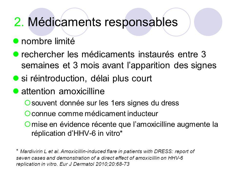 2. Médicaments responsables
