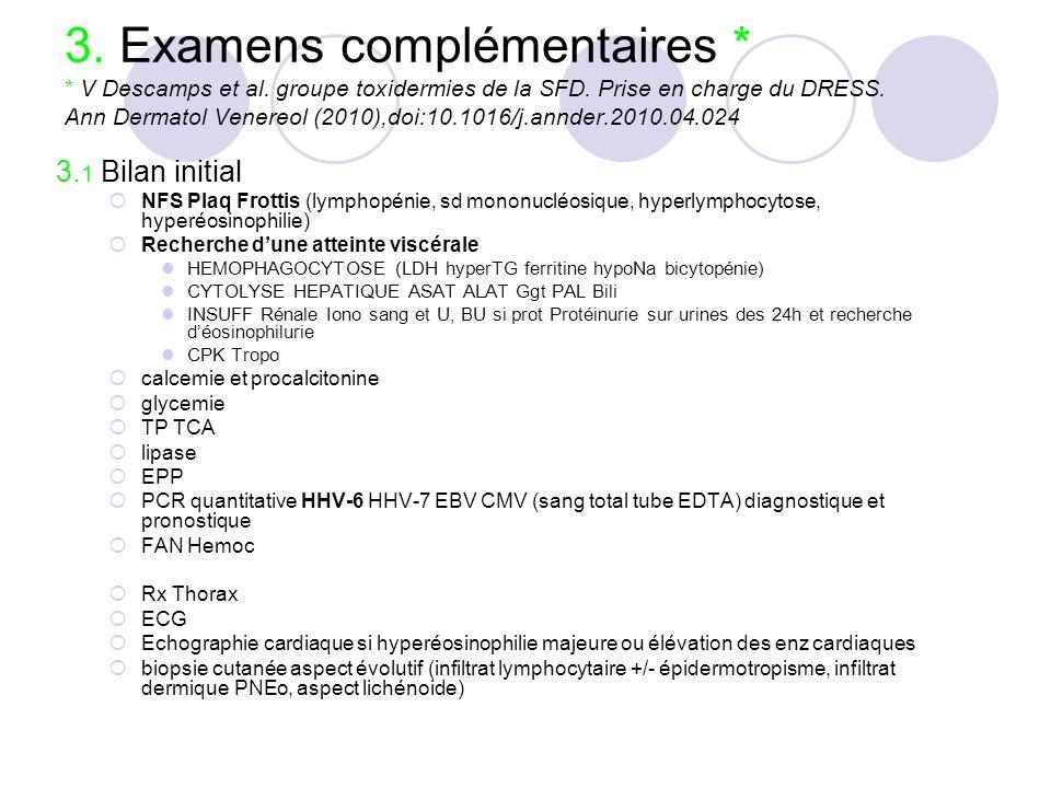 3. Examens complémentaires. V Descamps et al
