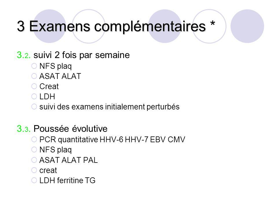 3 Examens complémentaires *