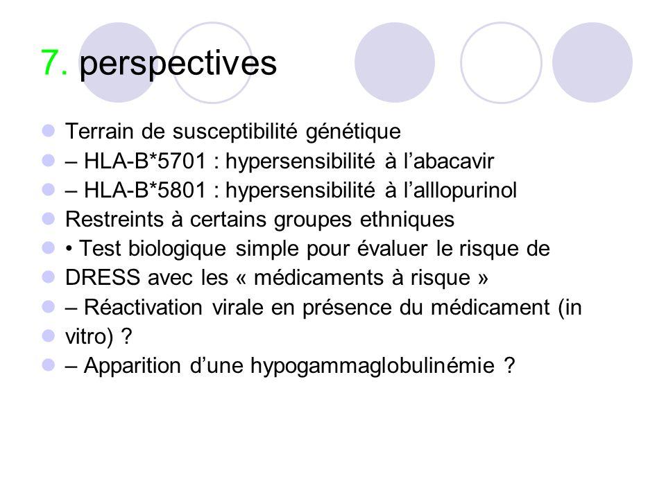 7. perspectives Terrain de susceptibilité génétique
