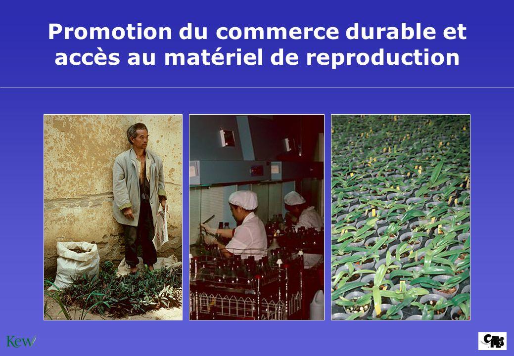 Promotion du commerce durable et accès au matériel de reproduction