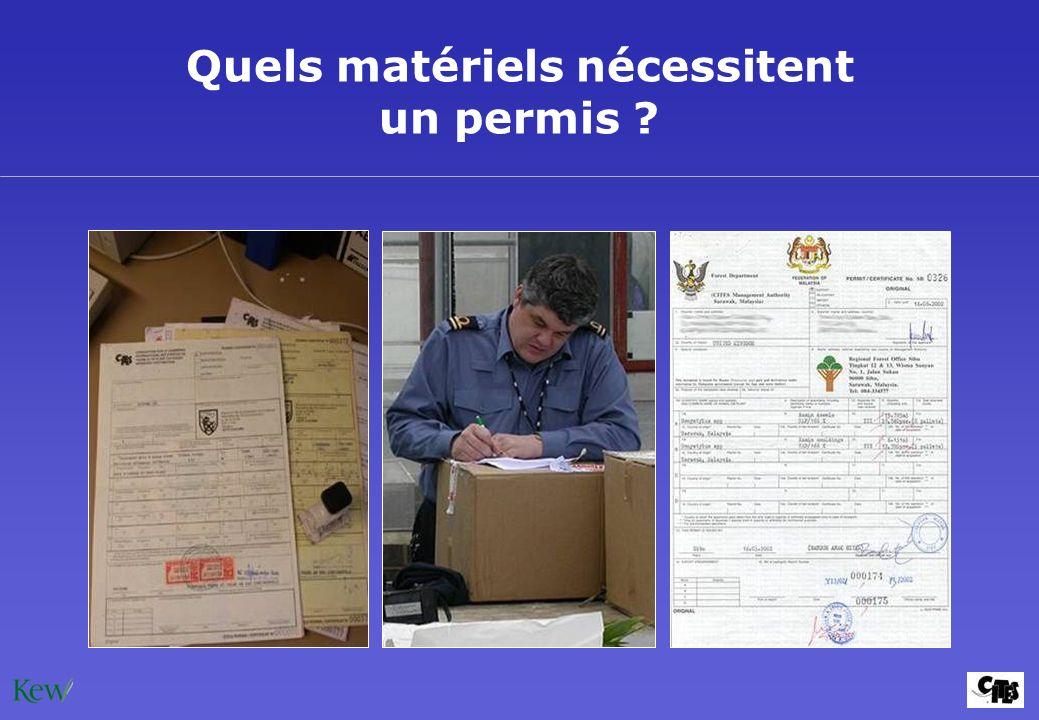 Quels matériels nécessitent un permis