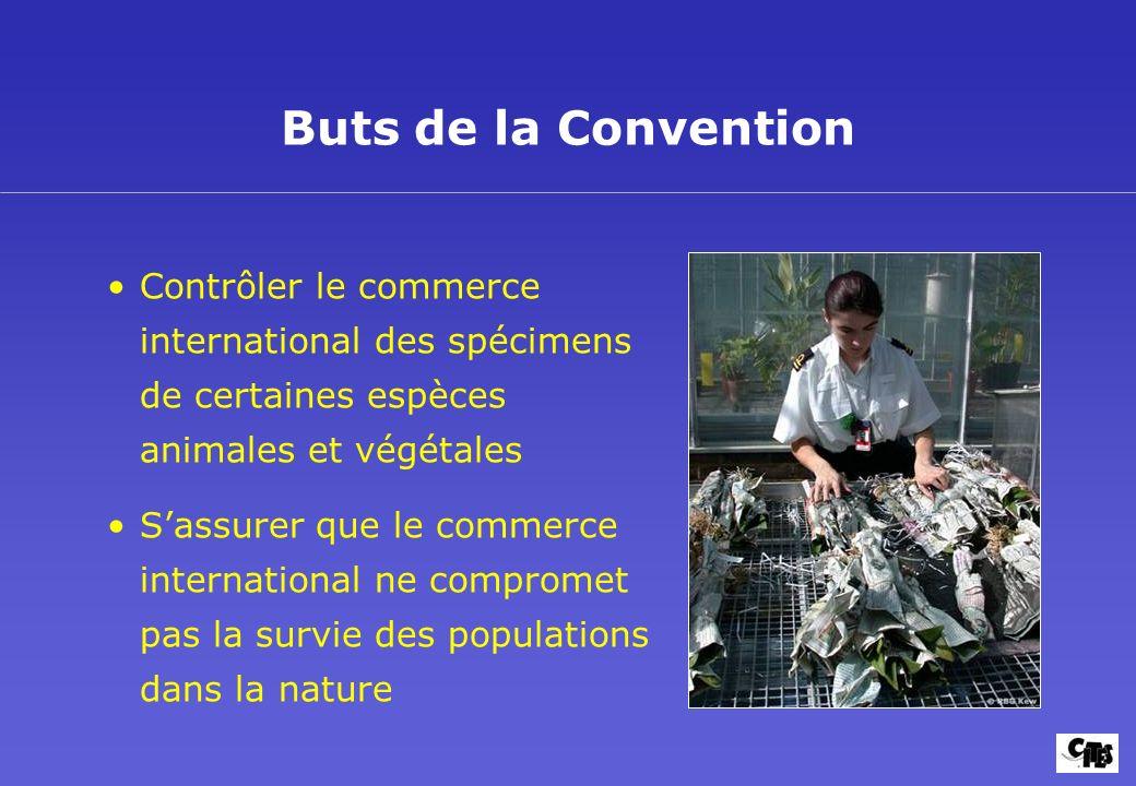 La CITES et les Plantes Buts et mise en oeuvre 5. Buts de la Convention.
