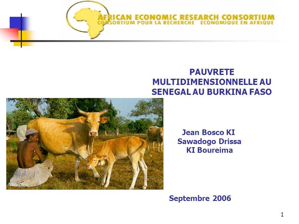 PAUVRETE MULTIDIMENSIONNELLE AU SENEGAL AU BURKINA FASO
