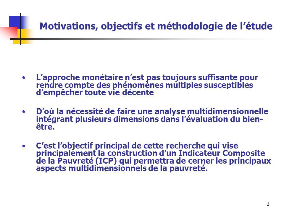 Motivations, objectifs et méthodologie de l'étude