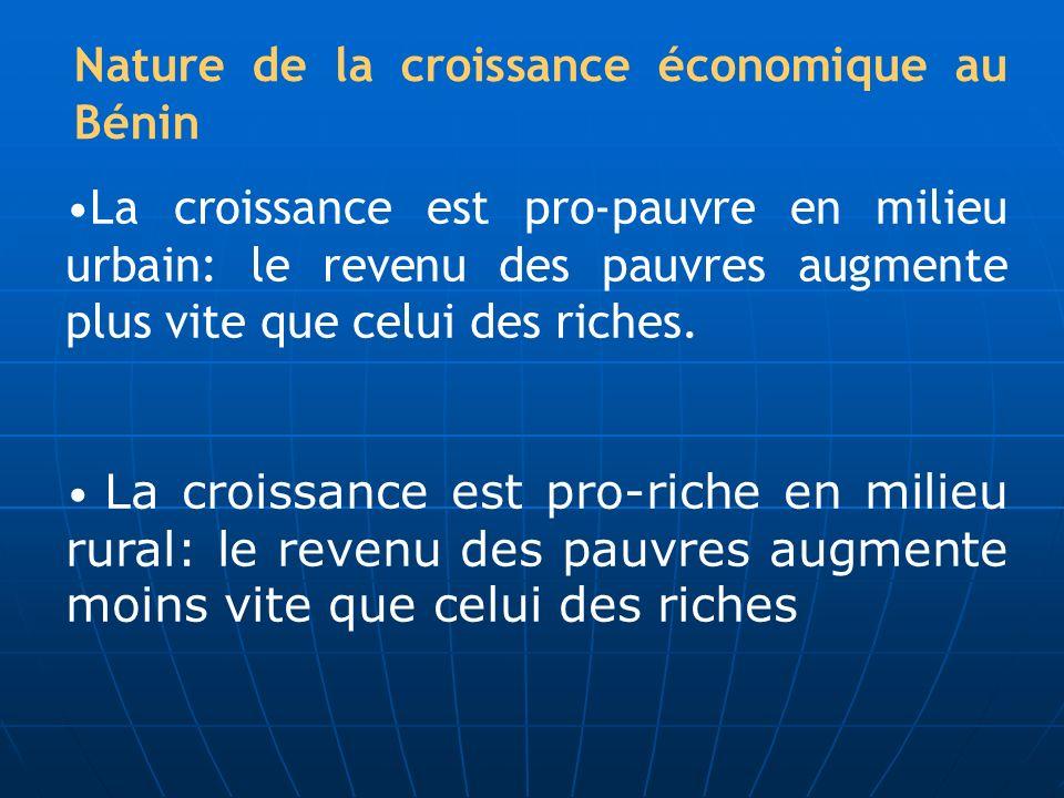 Nature de la croissance économique au Bénin
