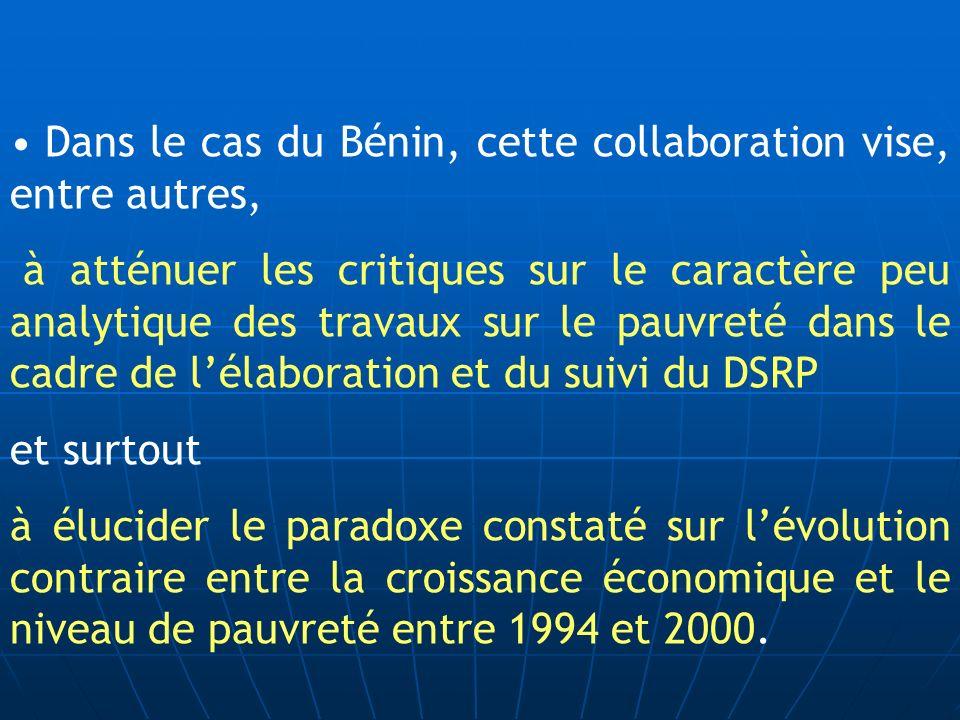 Dans le cas du Bénin, cette collaboration vise, entre autres,